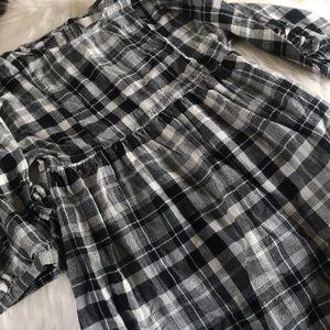Zara girls plaid dress